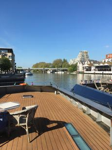 DESIGNER BARGE, MOORED IN KINGSTON UK