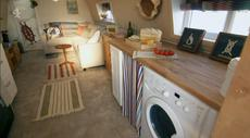 Houseboat liveaboard converted lifeboat