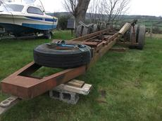 Large boat trailer