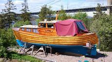 Classic Norwegian Wooden Motor Boat