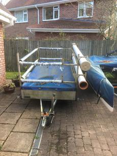 Double stacker dinghy trailer