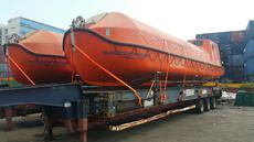 2* 75 pers classed life boats and davits