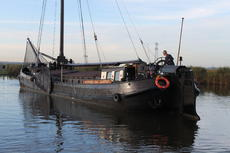 TRIWV certificated tjalk (barge) light and modern liveaboard