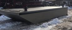 "New 2019 10' x 24'6"" x 3' Steel Barge 1/4"" Construction"