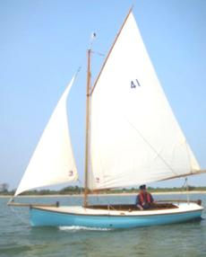 Salterns 16ft Tela, GRP Gaff day boat with Trailer.