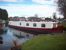 55ft Narrowbeam Dutch Barge Built by Le Skerne Boatbuilders Ltd in 200