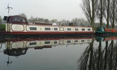 narrowboat with mooring. 66' boat..freehold land 70'x80'