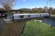 Narrowboat The Bubble 60 ft Cruiser stern 2001