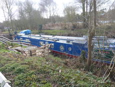 70ft narrowboat, liveaboard mooring, Bishops Stortford, Herts