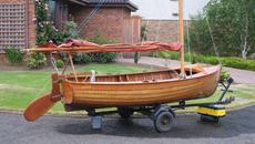 Classic Tideway Super 12ft Gunter Rig Sailing Dinghy