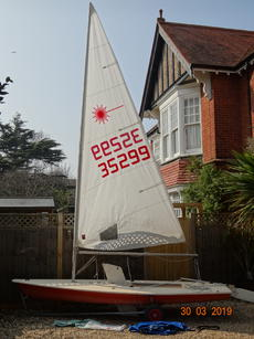 Laser-1 - Good for age, sailable, cover & trolley