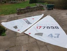 Laser 4.7 Sails x2 and Lower Mast