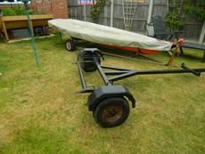 Laser Dinghy w h Road & Launch Trolley