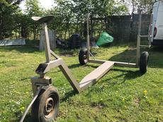 Three wheel steerable yard trailer 1.8T keelboat
