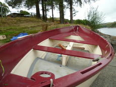 Spritsail dinghy rowboat