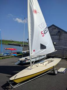 Laser with  3 rigand sails, combi traile