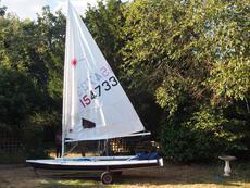 Laser sailing dinghy. Good condition