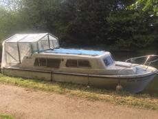 "Norman 23"" Cabin Cruiser Greenhouse Boat"