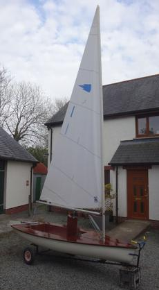 Comet Dinghy. Sail number 1 (one!)