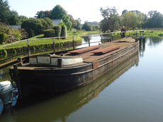 Unconverted Dutch Barge and engine.