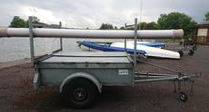 Double stacking box dinghy trailer