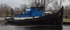 64′ x 18′  1100 hp Tug with Retractable Wheelhouse