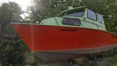 1990 26′ x 9′ Steel Work Boat
