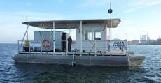 12 m catamaran working platform or house