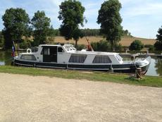 Classic Dutch Canal Barge, in France.