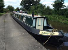 60ft cruiser stern canal boat.