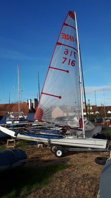 Blaze racing dingy