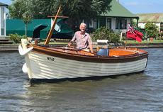 Clinker built, fishing estuary launch