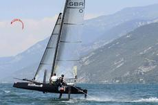 Flying Phantom Elite -foiling catamaran including enclosed box trailer