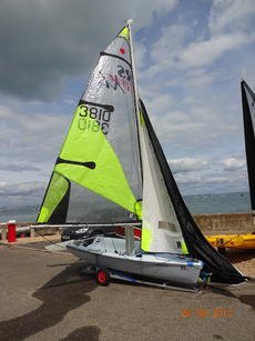 RS Feva XL sail number 3810, year 2010