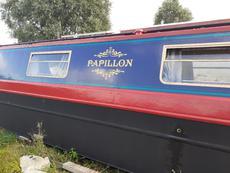 60ft Semi traditional narrow boat. Papillon