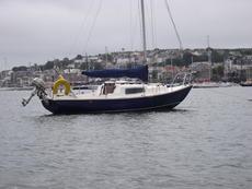 Corribee fin keel sailing yacht