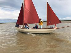 Immaculate Drascomb Lugger ready to sail