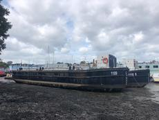 ex MOD  cargo barges ready for conversion to amazing floating homes