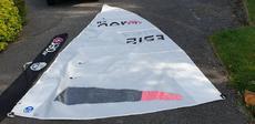 RS Aero 9 sail and mast section