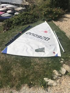 Laser Radial Sail & Mast section