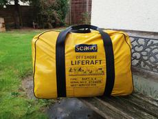 Seago 4 man offshore liferaft.