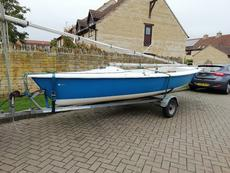 Laser 16 sailing dinghy boat with combi