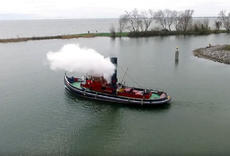 magnificent antique steamtug