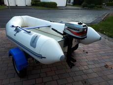 Avon 2.8m RIB + Mariner 4hp Outboard