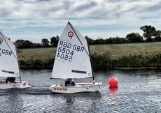 Optimist GBR5504. Ready to sail and race.
