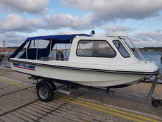 Delquay dory 17ft boat with galvanised r