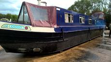 Narrowboat Cratch cover with Cratch Board