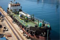 Small Oil Tanker Barge 830 DWT built 1982 in Greece