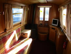 57ft Cruiser stern narrowboat built 2006 by Liverpool Boats