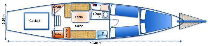 42ft CLASSIC LAURENT GILES BERMUDIAN CUTTER